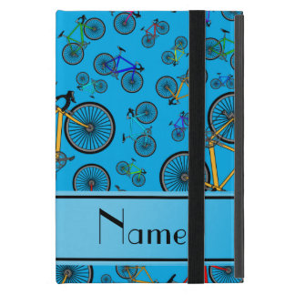 Personalized name sky blue road bikes cases for iPad mini