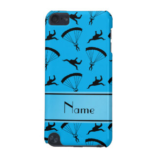 Personalized name sky blue skydiving pattern iPod touch (5th generation) cases