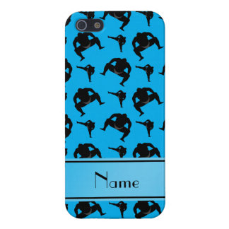 Personalized name sky blue sumo wrestling iPhone 5/5S covers