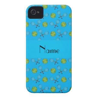 Personalized name sky blue tennis balls iPhone 4 cases