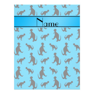 Personalized name sky blue trex dinosaurs 21.5 cm x 28 cm flyer