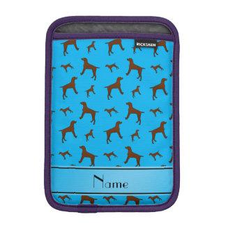 Personalized name sky blue Vizsla dogs Sleeve For iPad Mini