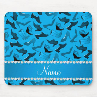 Personalized name sky blue women's shoes pattern mouse pad