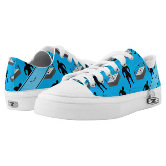 Personalized name sky blue wrestlers ring low tops