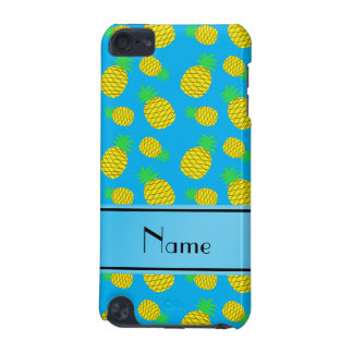 Personalized name sky blue yellow pineapples iPod touch (5th generation) cover