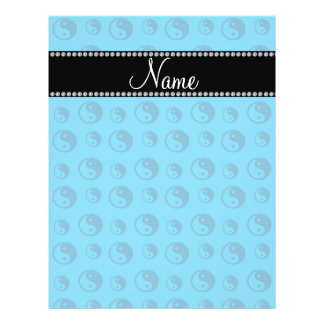 Personalized name sky blue ying yang pattern full color flyer