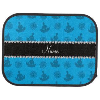 Personalized name sky blue yoga pattern car mat