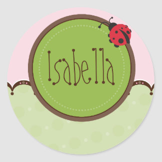 PERSONALIZED NAME STICKERS :: ladybird 4