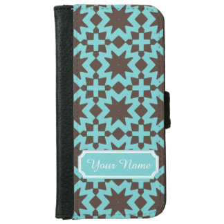 Personalized Name Stylish Chic Decorative Pattern iPhone 6 Wallet Case