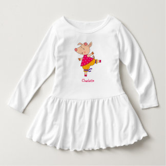 Personalized Name  Sweet Dancer Piggy Dress