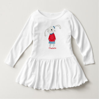 Personalized Name  Sweet Rabbit Alice Dress