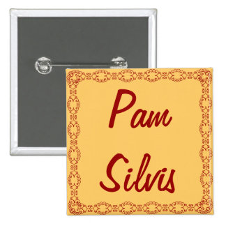Personalized Name Tag Button Pin