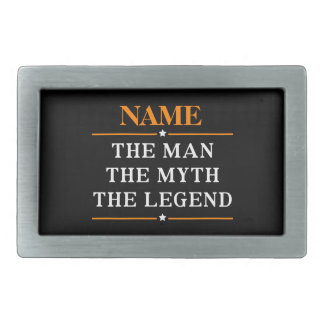 Personalized Name The Man The Myth The Legend Belt Buckle