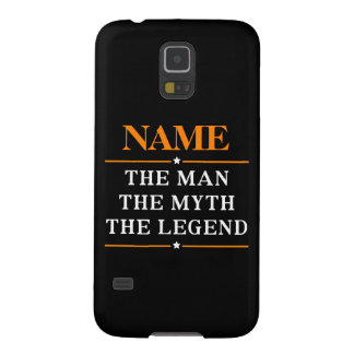 Personalized Name The Man The Myth The Legend Galaxy S5 Covers