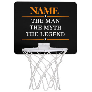 Personalized Name The Man The Myth The Legend Mini Basketball Hoop