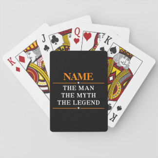 Personalized Name The Man The Myth The Legend Poker Deck