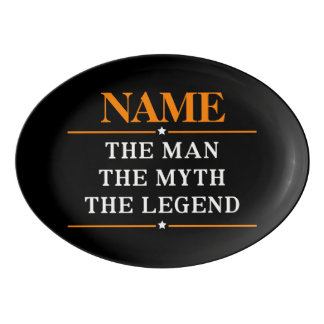 Personalized Name The Man The Myth The Legend Porcelain Serving Platter