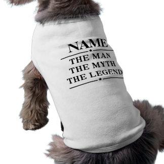Personalized Name The Man The Myth The Legend Sleeveless Dog Shirt