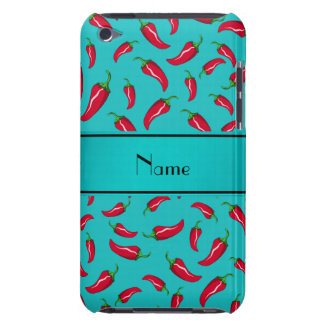 Personalized name turquoise chili pepper barely there iPod cover