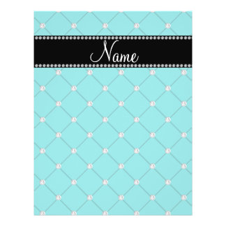 Personalized name Turquoise diamonds Flyer