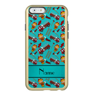 Personalized name turquoise firemen trucks ladders incipio feather® shine iPhone 6 case