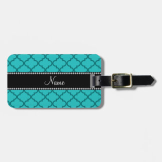 Personalized name Turquoise moroccan Luggage Tag