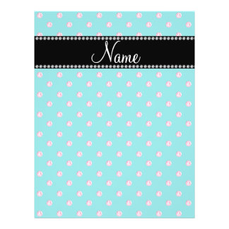 Personalized name turquoise pink diamonds custom flyer