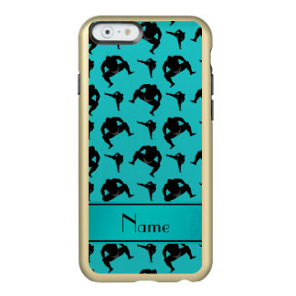 Personalized name turquoise sumo wrestling incipio feather® shine iPhone 6 case