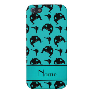 Personalized name turquoise sumo wrestling iPhone 5/5S case