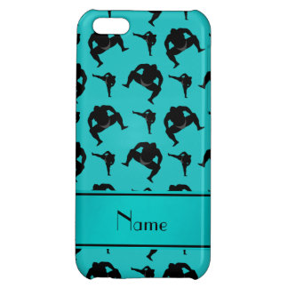 Personalized name turquoise sumo wrestling iPhone 5C case