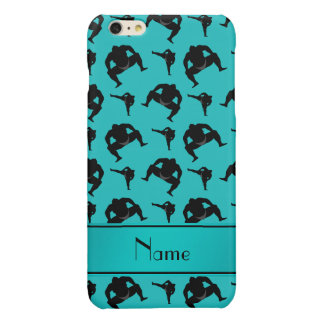Personalized name turquoise sumo wrestling iPhone 6 plus case