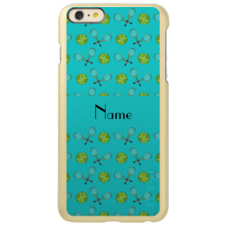 Personalized name turquoise tennis balls iPhone 6 plus case