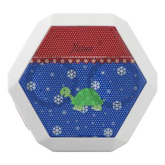 Personalized name turtle blue snowflakes