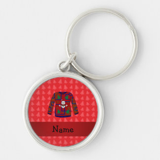 Personalized name ugly christmas sweater keychains