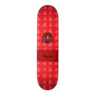 Personalized name ugly christmas sweater 21.6 cm skateboard deck