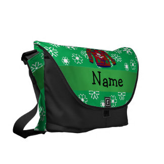 Personalized name ugly christmas sweater snowflake commuter bag