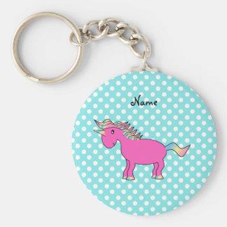 Personalized name unicorn key ring