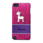 Personalized name unicorn pink glitter iPod touch 5G cover