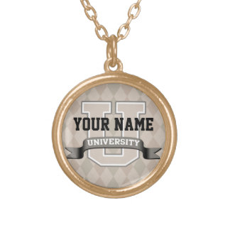 Personalized Name University Cool Funny Family Personalized Necklace