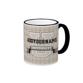 Personalized Name University Cool Funny Family Ringer Mug