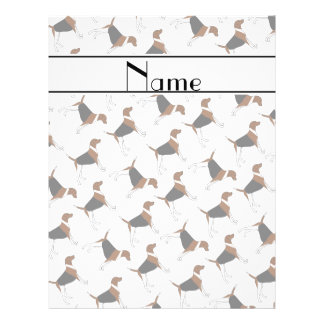 Personalized name white american foxhound dogs 21.5 cm x 28 cm flyer