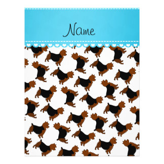 Personalized name white australian terrier dogs 21.5 cm x 28 cm flyer
