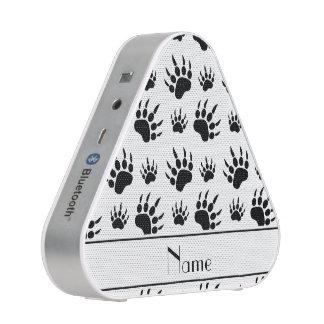 Personalized name white bear paw prints