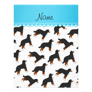 Personalized name white Bernese Mountain dogs 21.5 Cm X 28 Cm Flyer