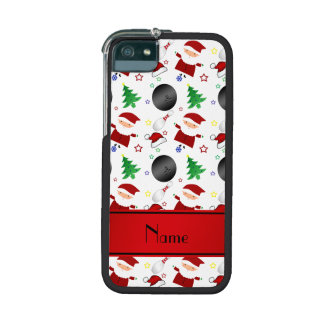 Personalized name white bowling christmas pattern case for iPhone 5