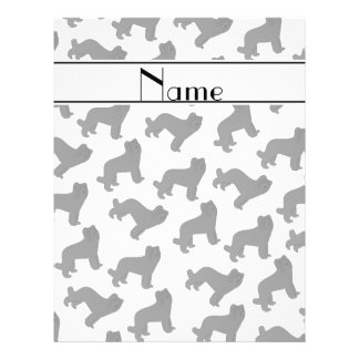 Personalized name white Briard dog 21.5 Cm X 28 Cm Flyer