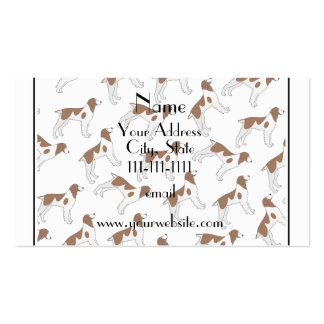 Personalized name white brittany spaniel dogs pack of standard business cards