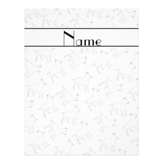 Personalized name white bull terrier dogs 21.5 cm x 28 cm flyer