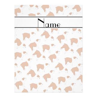 Personalized name white Bulldog 21.5 Cm X 28 Cm Flyer
