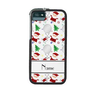 Personalized name white christmas golfing iPhone 5 case